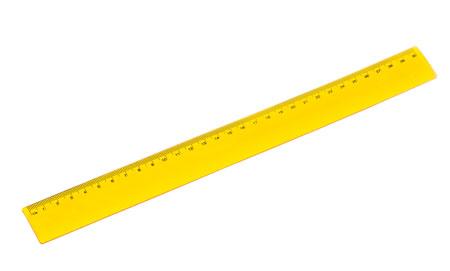 Žluté pravítko