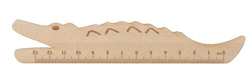 Looney dřevěné pravítko - krokodýl