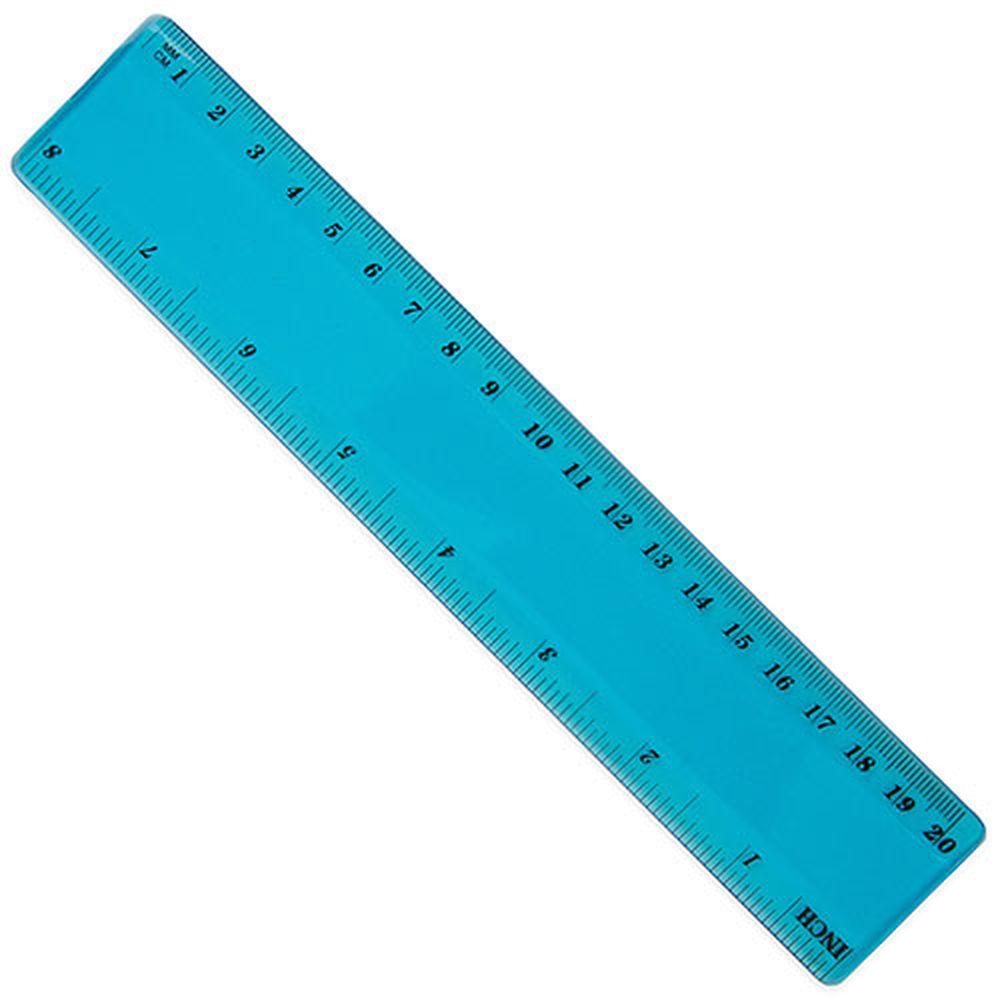 Dvaceticentimetrové ohebné pravítko modré