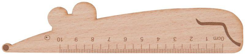 Looney dřevěné pravítko - myš