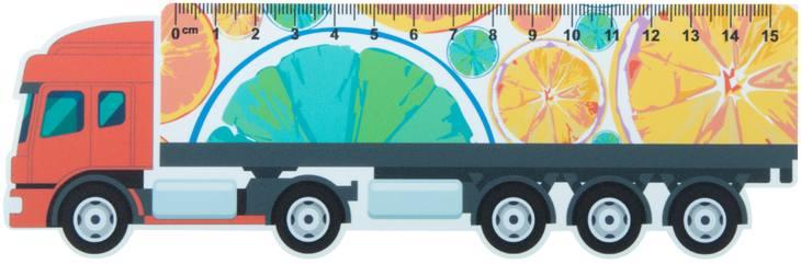 Trucker 15 15 cm pravítko, kamion