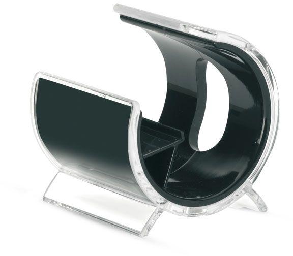 Plastový stojan na mobil černý
