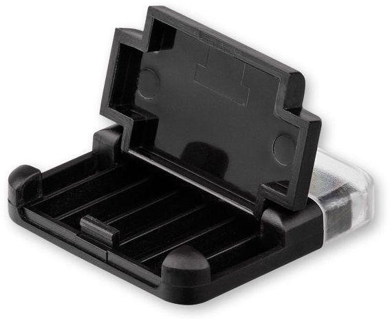 MOBI plastový stojánek na mobil s čistítkem displeje, černá