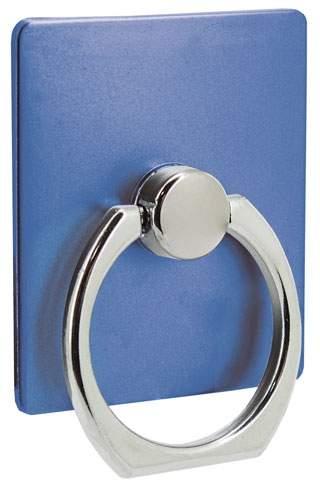 Držák na mobil s kroužkem, modrá