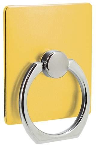 Držák na mobil s kroužkem, žlutá