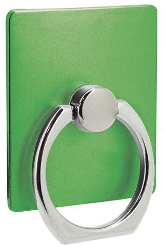 Držák na mobil s kroužkem, zelená