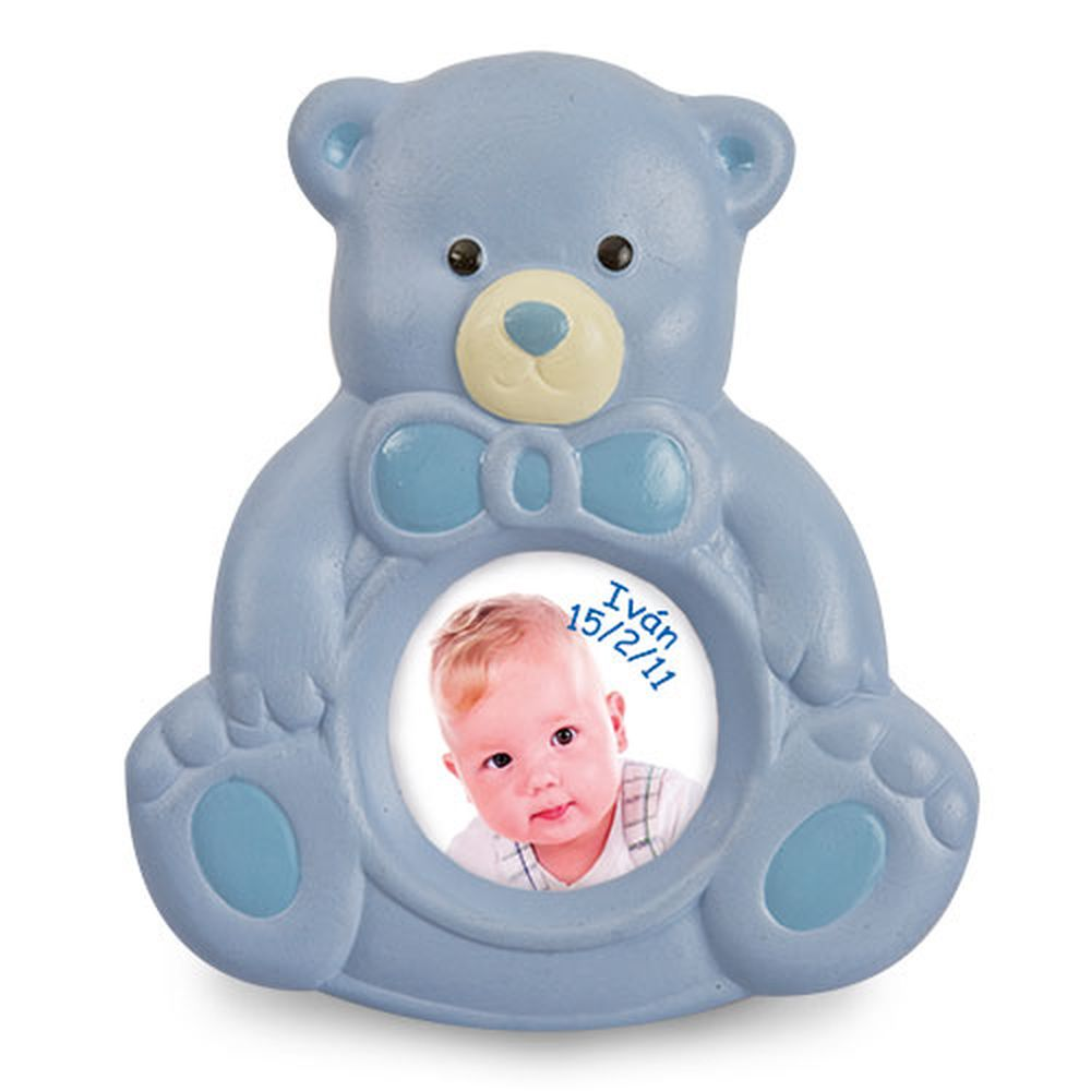 Keramický rámeček-medvídek modrý