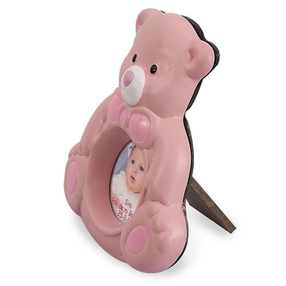 Keramický rámeček-medvídek růžový