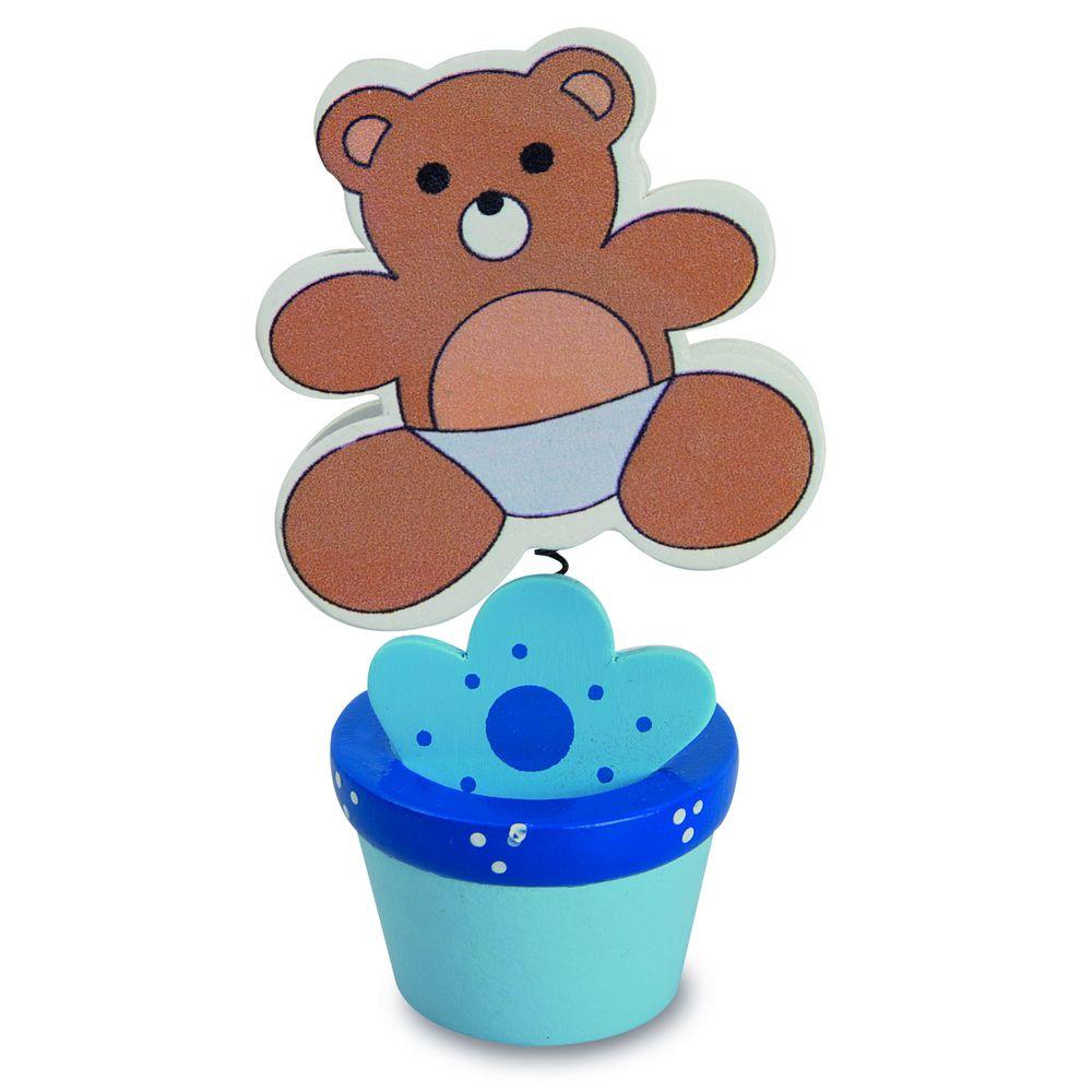Klip na fotografii-medvídek modrý