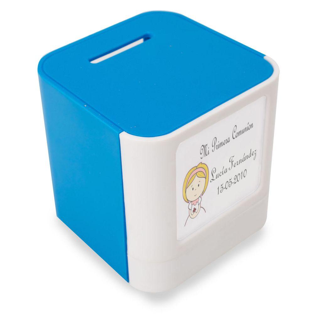 Kasička - rámeček na foto bílo-modrý