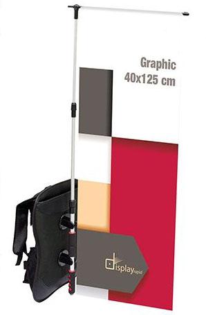 Reklamní baner s popruhy