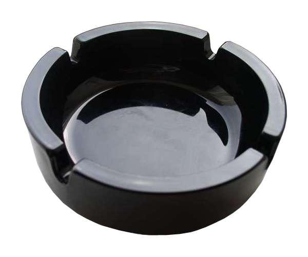 Malý černý popelník s potiskem