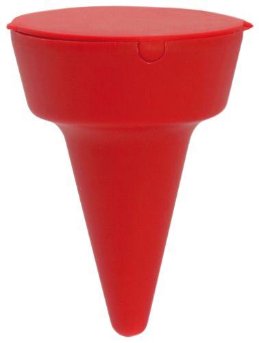 Plážový popelník červený s potiskem