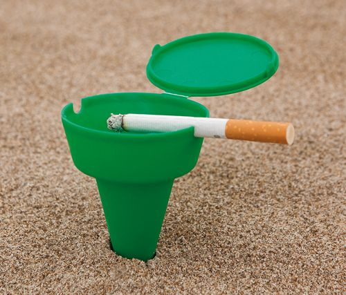 Plážový popelník zelený