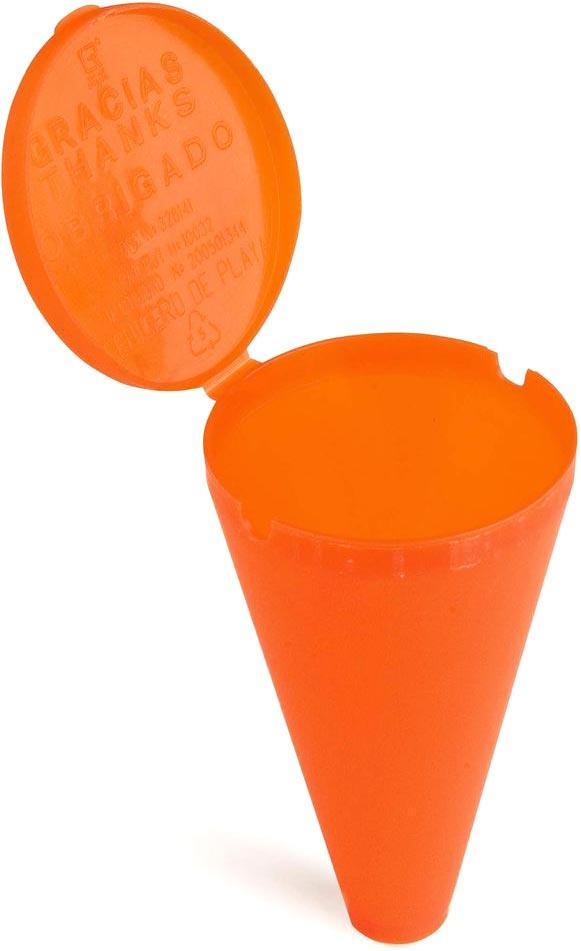 Popelník na pláž oranžový