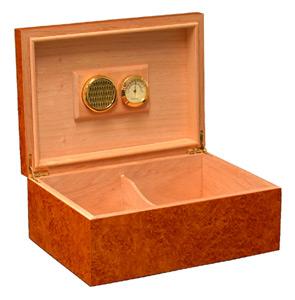 Humidor z hnědého dřeva L