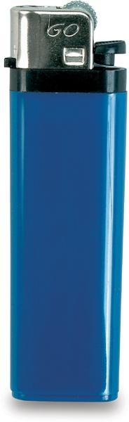 Modrý zapalovač s dětskou pojistkou