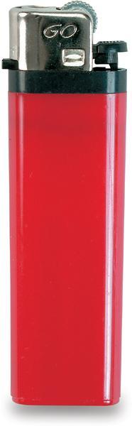 Červený zapalovač s dětskou pojistkou