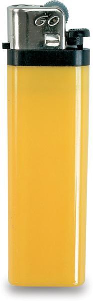 Žlutý zapalovač s dětskou pojistkou