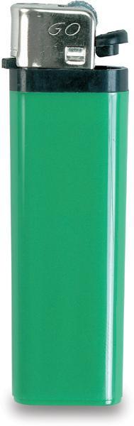 Zelený zapalovač s dětskou pojistkou