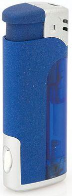 Modrý zapalovač s led světlem