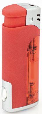 Červený zapalovač s led světlem