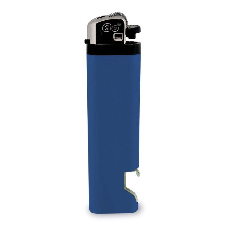 Zapalovač s otvírákem na láhve modrý