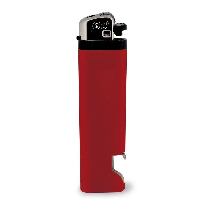 Zapalovač s otvírákem na láhve červený