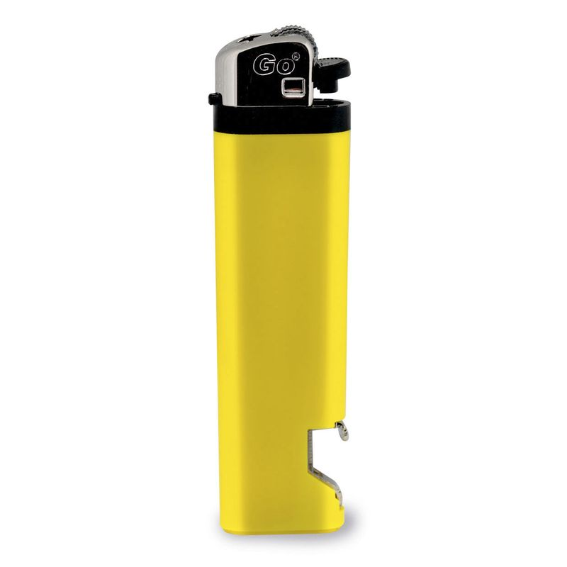 Zapalovač s otvírákem na láhve žlutý