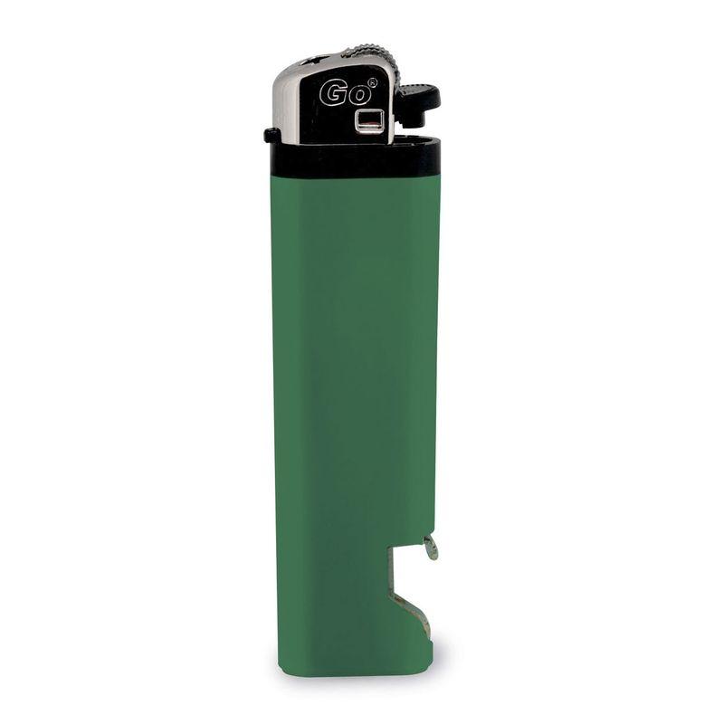 Zapalovač s otvírákem na láhve zelený s potiskem