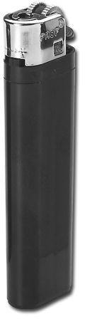 MAXI plastový jednorázový kamínkový zapalovač, černá