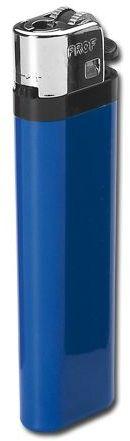 MAXI plastový jednorázový kamínkový zapalovač, modrá s potiskem