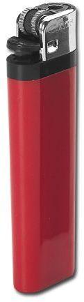 MAXI plastový jednorázový kamínkový zapalovač, červená s potiskem