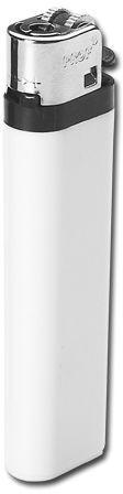 MAXI plastový jednorázový kamínkový zapalovač, bílá