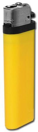 MAXI plastový jednorázový kamínkový zapalovač, žlutá s potiskem