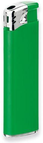FLAMING plastový plnitelný piezo zapalovač, zelená
