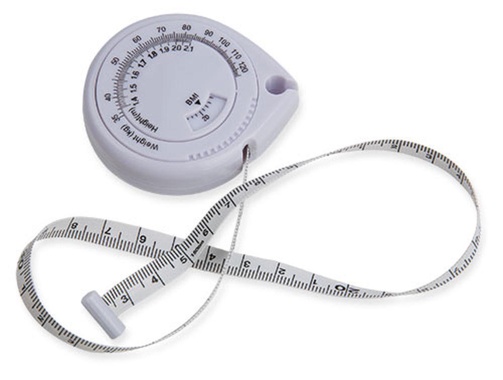 Metr BMI bílý