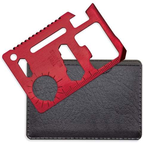 Multifunkční karta multi tool, červená