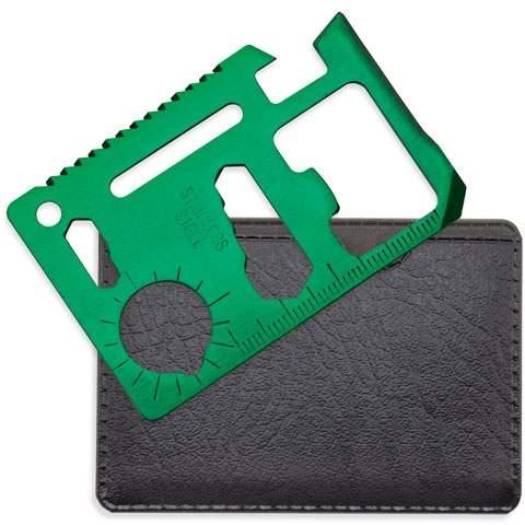 Multifunkční karta multi tool, zelená