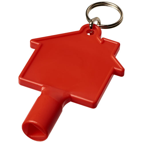 Klíč na měřidla ve tvaru domu Maximilian s klíčenkou