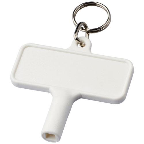Plastový klíč na radiátory Largo s klíčenkou