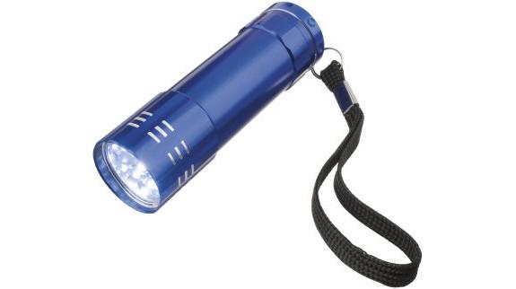 Svítilna 9 LED modrá