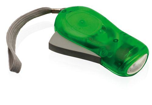 Svítilna na ruční pohon zelená