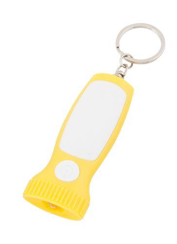 Scam žlutá klíčenka se svítilnou