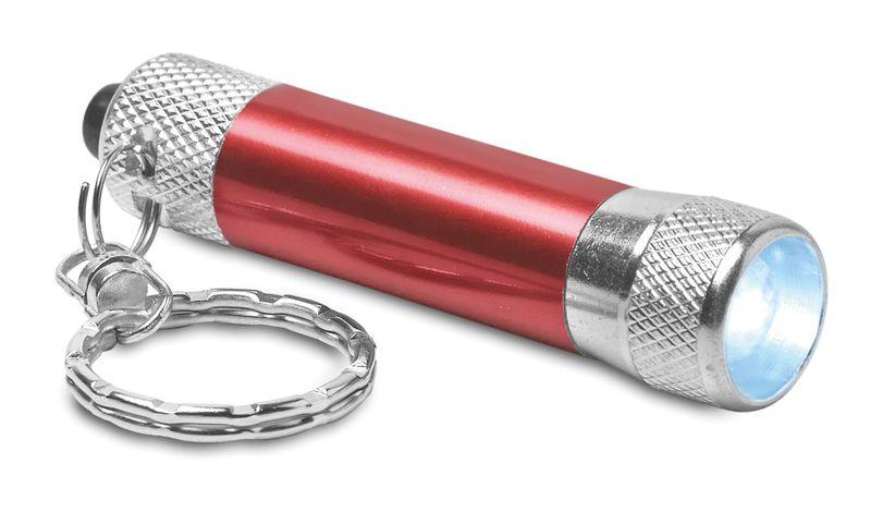 Hliníková červená svítilna s přívěškem