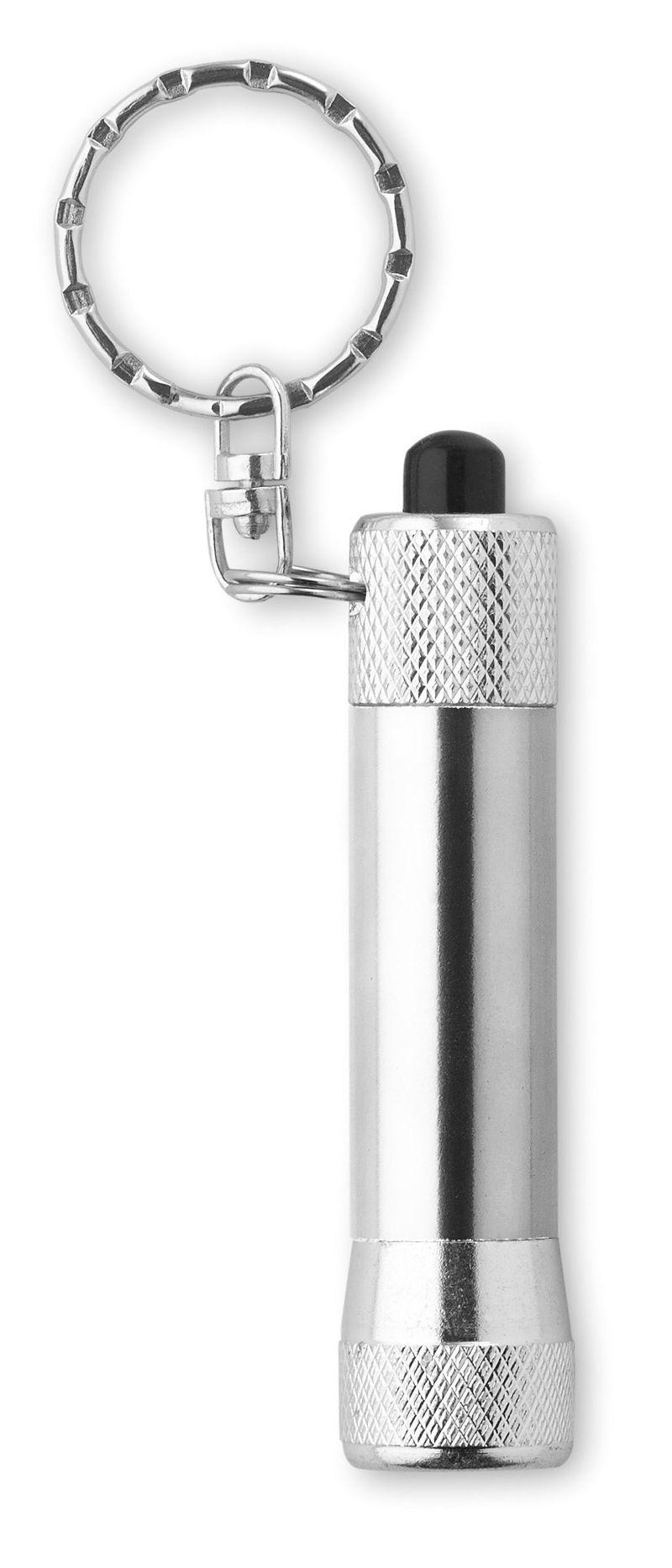 Hliníková stříbrná svítilna s přívěškem