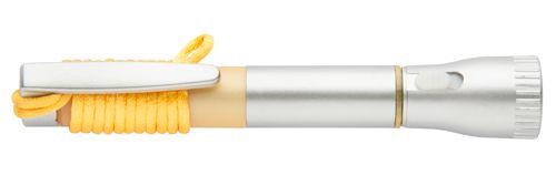 Mustap pero se svítilnou