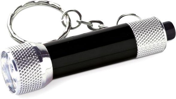 Přívěšek na klíče baterka černá