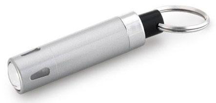 Klíčenka s LED svítilnou stříbrná