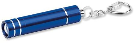 GLOWER kovový přívěsek - LED svítilna s funkcí lampičky, tmavě modrá